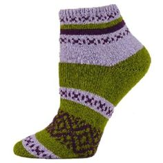 Harmony Shortie Socks (Medium, Olive) QT Feet. $13.98