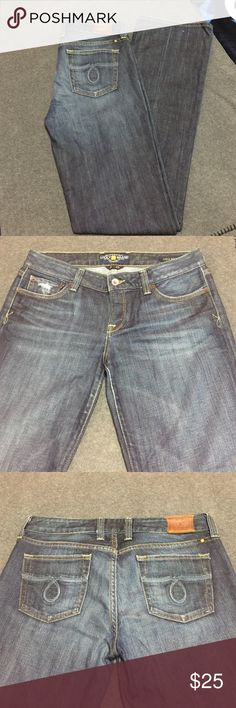 """Lucky Jeans Lucky Jeans 8/29....98%cotton,2% spandex. Inside says 30 Lola Boot. I am 5'8 """"and these are 36""""from the inseam down. Lucky Brand Jeans Boot Cut"""