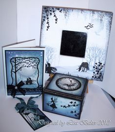 This is a set that I created for Lavinia Stamps .Make beautiful cards and gifts using a unique range of clear stamps, created by Tracey Dutton from Lavinia Stamps. Magical mystical and Floral images, which include a wonderful range of silhouette Fairies