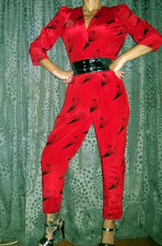 Vintage 80s New Wave Glam Jumpsuit by RoxburySquare on Etsy, $26.99  WOW!! Vintage 80s is HOT!!