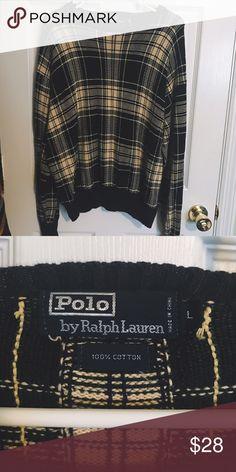 b15ecf580 vintage ralph lauren polo tartan sweater Vintage Ralph Lauren Polo  plaid tartan sweater in green