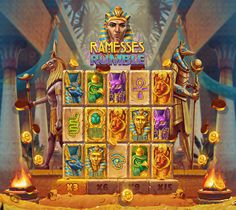 Ramesses Rumble on Behance Game Gui, T Rex, Egyptian, Slot, Behance, Mobile Design, Games, Creative, Projects