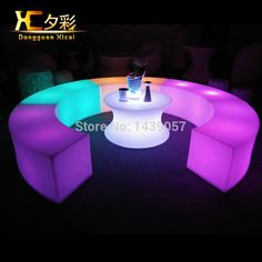 249.00$  Watch now - http://ali14h.worldwells.pw/go.php?t=32320200337 - Plastic Ligt Up LED Bar Stool Rechargeable Night Club Furniture Garden Glowing Chair Hotel Curved Stools 249.00$