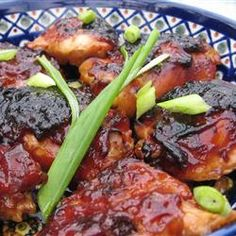 Caramelized Baked Chicken - olive oil, soy sauce, ketchup, honey and garlic