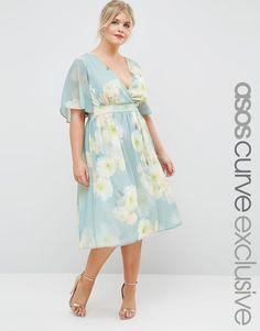 ASOS CURVE SALON Midi Dress in Vintage Large Floral at asos.com 89f4a5eadbe