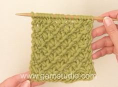 DROPS Knitting  Tutorial: How to knit a star pattern.