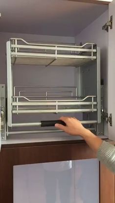 Kitchen Cabinet Shelving Lifting System - - Material Stainless steel Cabinet Width Size (W*D*H) (mm) Type Kitchen High cabinet lift basket Usage Kitchen Organizers Color Chrome plated Feature Load-grading Adjustment Style Morden . Kitchen Pantry Design, Modern Kitchen Cabinets, Modern Kitchen Design, Home Decor Kitchen, Interior Design Kitchen, Stainless Steel Kitchen Cabinets, Nordic Kitchen, How To Make Kitchen Cabinets, Hanging Kitchen Cabinets