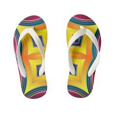 836e15b9feccdb Rainbow Diamond Abstract Kid s Flip Flops  kidsflipflops  flipflops  thongs   kids  summer