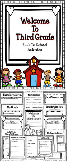 Back To School Activity Book - Welcome To Third Grade - A great student activity book to use during the first week of school. #education #tpt