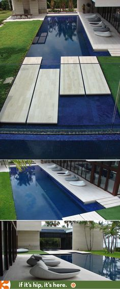 Beautiful modern pool design by Aquatic Consultants, Inc.,/Brian Van Bower; Architect: Rene Gonzalez