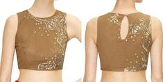 Saree Blouse Designs-One sided Design on Blouse27