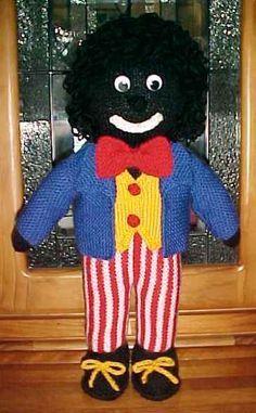 knitted golliwog pattern – Knitting Tips Animal Knitting Patterns, Doll Patterns, Crochet Patterns, Knitting Paterns, Knitting For Charity, Free Knitting, Baby Knitting, Knitted Dolls, Crochet Toys