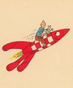 Tintin fuse Hergé