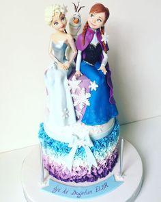 elsa anna olaf frozen cake