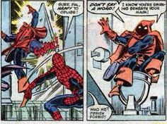 The Hobgoblin doesn't care for toilet humor. Art by Ron Frenz, a la Amazing Spider-Man # 260.