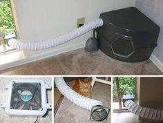 Impressive piece of engineering to add ventillation... #cat - Care for cats at Catsincare.com!