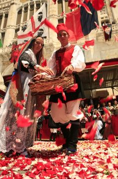 Sant'Efisio fest, 1st of may, saint of Cagliari.
