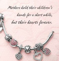 A special gift for a special woman! Have everyone bring one charm and create a cherished baby shower bracelet. .For all your Pandora visit Renaissance Fine Jewelry in Brattleboro, Vermont. www.vermontjewel.com, call 802-251-0600. Have fun getting your Pandora Jewelry!