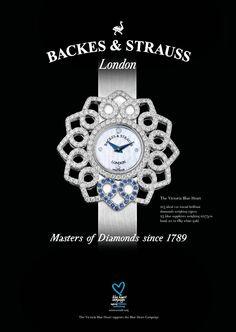 The Victoria Blue Heart Collection - For more information, visit www.backesandstrauss.com
