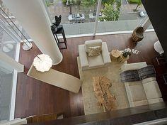 Penthouse Loft View From Upper Floor - contemporary - living room - portland - Pangaea Interior Design, Portland, OR