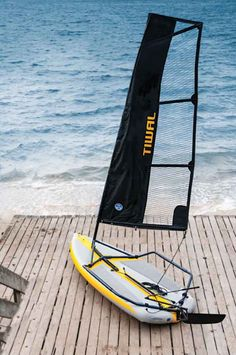 Come sail away with the inflatable, easy to store sailing dinghy by Tiwal Designs. Sailing Kayak, Canoe And Kayak, Kayak Fishing, Dinghy Sailboat, Sail World, Sailboat Living, Honfleur, Rando, Boat Stuff
