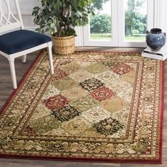 Shop for Safavieh Lyndhurst Traditional Oriental Multicolor/ Red Rug (8' 11 x 12' rectangle). Get free shipping at Overstock.com - Your Online Home Decor Outlet Store! Get 5% in rewards with Club O! - 12913149
