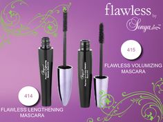 Take your lashes to great lengths with our aloe  enriched flawless by Sonya™ Lengthening Mascara. Create natural looking, high  definition lashes that are long, luxurious, defined and separated for  unforgettable eyes.
