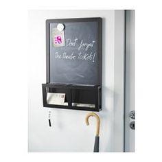 IKEA - LUNS, Skriv-/magnettavla, Perfekt för nycklar, post och mobil.Du kan skriva meddelanden med krita och fästa magneter på tavlan.