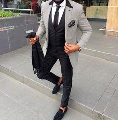 Men's style inspiration - suits - ties - pocket squares #menssuitsstylish