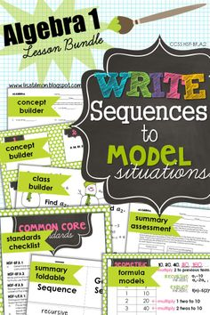 Do your students focus on number pattern (sequences) instead of variable relationship (function)? Mine too! Let's use their tendencies to our advantage when teaching arithmetic and geometric sequences as function models in Algebra 1 or Algebra 2. This bundle includes investigations and cooperative learning activities to connect sequences and functions while prompting students to write explicit and recursive formulas to model situations.