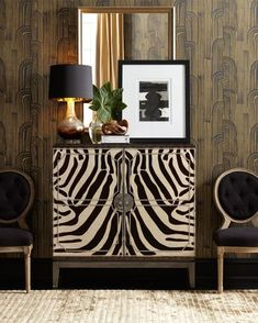 Shop Vanna Zebra Cabinet at Horchow, where you'll find new lower shipping on hundreds of home furnishings and gifts. Furniture Styles, Home Decor Furniture, Painted Furniture, Home Furnishings, Furniture Design, Furniture Ideas, Box Architecture, Luxury Home Decor, Beautiful Interiors