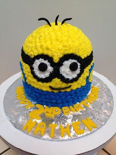 Buttercream Minion Cake Cake by Brandys Cakes in Weatherford TX