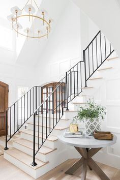 Interior Design: Modern Traditional Home Entryway Transformation