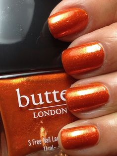 Burnt orange toenail color for summer!