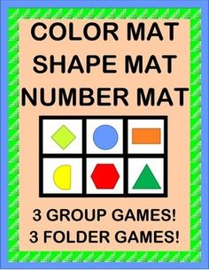 "Have fun with 12 COLORS, 12 SHAPES, and NUMBERS 1-12! Enjoy 3 different PLAY-DOH MATS! Make 3 FOLDER GAMES for your Centers! Play a funny GROUP GAME called ""Pat the Mat""! Sing an easy SONG-- directions included for a very familiar tune. MULTI-SENSORY ACTIVITY PACKET from Joyful Noises Express TpT! $"