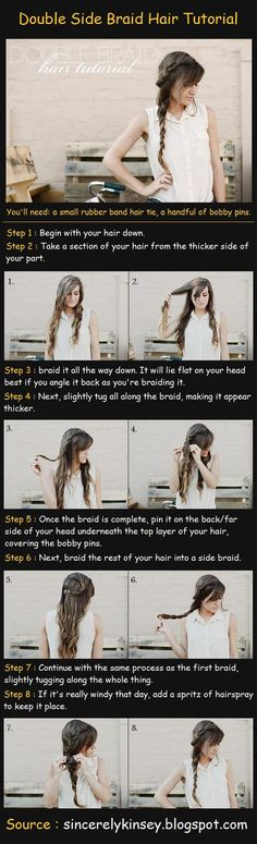 Double Side Braid Hair Tutorial❤ so gonna try this today for church follow me on Instagram: chrissymorrgan to see what it ends up looking like!! Thank you for 60 followers!!
