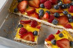 Triple-Berry Cheesecake Squares Recipe - Kraft Recipes