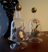 A great way to display family memorabilia: Domes of Curiosity (DIY)   Shades of Tangerine.