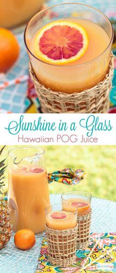 Hawaiian POG Juice Recipe