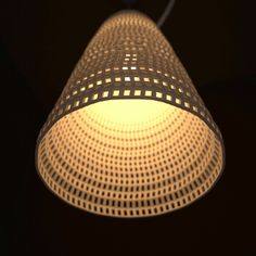 3D print; cool way to add texture to lighting. could spice up some timple lighting solutions