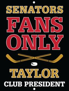 Senators Custom Personalized Bar Sign  by thepersonalizedstore #ManCave #FathersDay #Groomsmen
