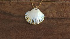 Porcelain Shell necklace, beach necklace, mermaid necklace, ivory shell, Seashell necklace, gold dipped shell, gift for her, gift under 100 by NaniByEttyVardi on Etsy