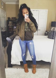 Swag Girl Outfit Ideas pin on issa look Swag Girl Outfit. Here is Swag Girl Outfit Ideas for you. Swag Girl Outfit swag outfit ideas for black girls ripped jeans with jacket. Dope Outfits, Trendy Outfits, Fashion Outfits, Womens Fashion, Fashion Shoes, Fashion Pants, Ghetto Outfits, Fashion Logos, Swag Fashion