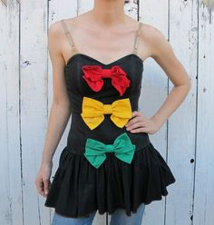 80s bow minidress