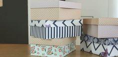 Lujinha - Casa de Fricotes: Como encapar caixas de papelão com tecido