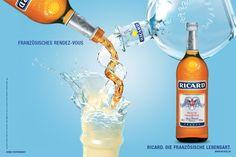 Grafik, Webdesign, Gestaltung, Produktion von klassischer Werbung, Print und Webseiten für Spirituosenhersteller Pernod-Ricard
