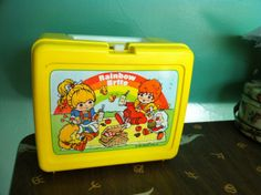 Vintage 1980's Rainbow Brite lunch box by TheFop on Etsy, $15.00