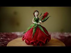 (36) Flower Fairy doll from crepe pape. DIY Master Class. - YouTube Crepe Paper Crafts, Crepe Paper Flowers, Flower Crafts, Diy Flowers, Doll Tutorial, Flower Fairies, Fairy Dolls, Diy Doll, Master Class