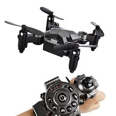 Main Features 1.Foldable/Watch Style/LED Lights/ 2.4G 4CH 4 Axis  2.Timer/Headless Mode/One Key Return/ FPV CAMERA/Gravity Sensor/360 Roll Over Main Parameters 1.Item name: SainSmart Jr. Kids Drone RC Quadcopter Watch Style Remote Control Mini Drone 2.Swings: 2 pair original and 5 pair... more details available at https://perfect-gifts.bestselleroutlets.com/gifts-for-teens/electronics-gifts-for-teens/product-review-for-sainsmart-jr-watch-drone-for-kids-rc-quadcopter-remote-co