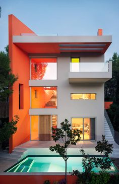 Do you love modern architecture? There are so many reasons why modern design is so popular. Here is some design inspiration for your modern home. Architecture Design, Modern Architecture House, Futuristic Architecture, Modern House Design, Computer Architecture, Architecture Awards, Sims 4 House Building, House Layouts, Decoration